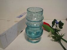 "Vintage Scandinavian Center 6""  SPECKLED Glass Vase Sweden Made FLOWERS PLASTIC"
