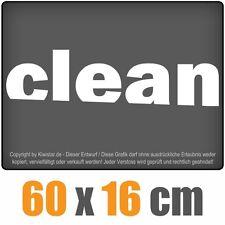 clean  chf0596 weiß 60 x 18 cm Heckscheibenaufkleber  Auto Car  Scheibe