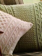 2x Knitted Cushions Aran Honeycomb And Aran Lattice Knitting Pattern