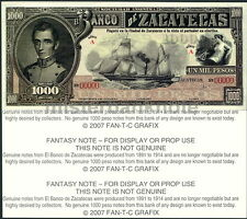 ZACATECAS, MEXICO 1000 PESO FANTASY ART NOTE - SAILING STEAMSHIP, 1-SIDED - UNC!