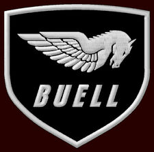 "BUELL EMBROIDERED PATCH ~3-1/2"" x 3-3/8"" MOTORCYCLE S1 LIGHTNING S3 THUNDERBOLT"
