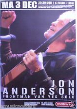 JON ANDERSON 2007 AMSTERDAM CONCERT TOUR POSTER - YES LEAD SINGER, CLASSIC ROCK