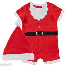 BABY size 00 CHRISTMAS SANTA SUIT with HAT summer NEW  3-6 mths outfit costume