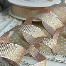 9 / 18mm Quality Metallic Weave Ribbon. Wedding bridal invitation glitter bride