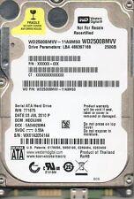 """Western Digital WD2500BMVV-11A9MS0 DCM: HECVJHN 250GB USB 2.5"""""""