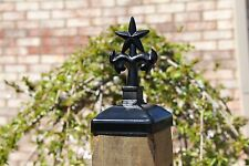 Wrought Iron Star with Palm Trees post cap, 4x4 wood fence post caps