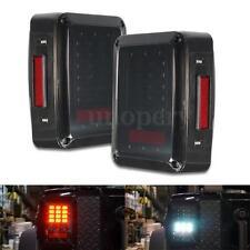 US Smoke Lens LED Reverse Brake Tail Lights Lamps For 2007~2016 Jeep Wrangler JK