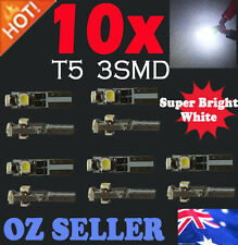 10X T5 WHITE 3SMD LED for Car dash light dashboard Bulb Lamp DC 12V wedge