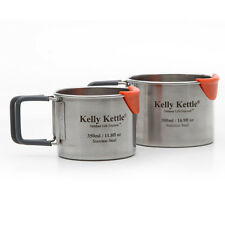 Kelly Kettle Stainless Steel Camping Cup Set - 17 oz. and 12 oz. - Camping Cups