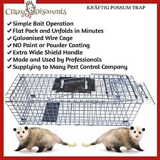 TRAP HUMANE POSSUM CAGE LIVE ANIMAL CATCH FERAL CAT RABBIT HARE BIRD BAIT RAT N