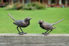 Bird pair garden ornament. Aged Bronze Finish garden sculpture. Indoor sculpture