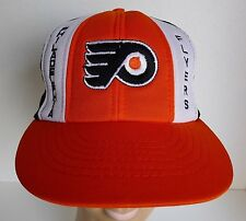 NHL Philadelphia Flyers Embroidered Foam Mesh Trucker Hat Snap-back 1980's