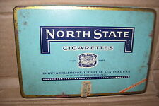 Vintage North State Superfine Ready Rolled Cigarettes Tin Box Container Tobacco