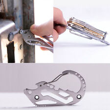 Outdoor EDC Stainless Key Holder Organizer Clip Foldable Keychain Pocket Tools