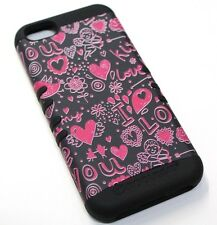 for iPhone 5c Cupid Hearts Love Kiss Hard &Soft Rubber Hybrid Koolkase Skin Case