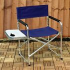 NEW Aluminium & Canvas Directors Garden/Camping Chair with Side Table Free Post