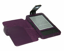 PURPLE COVER CASE WITH LIGHT FOR AMAZON KINDLE 3 AND 3G