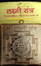 SHREE LAKSHMI LAXMI YANTRA SHRI YANTRAM CHAKRA WEALTH & SUCCESS ENERGISED THICK