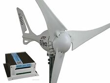 Set Windgenerator 12V/500W + Hybrid Laderegler,Turbine i-500 White Edit#WG+Hy.LR