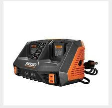 RIDGID GEN5X Dual Port Sequential Charger with Dual USB Ports 18V 18 Volt