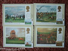 PHQ Stamp card set FDI Front No 36 Horse Racing 1979. 4 card set  Mint Condition