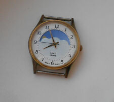 Belarus Soviet  RARE Vintage LUCH Moon and sun phases watch.  Quartz.