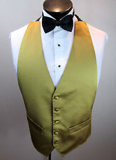 Mens Formal Vest Gold Design Bow Tie Included One Size Fits All B6