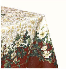 "Splendor Christmas Damask Tablecloth ~ 70"" Round"