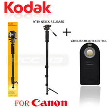 "Kodak Monopod 72"" With For Canon 60D,T5,6D,EOS 1Dx,EOS 5D + Remote Control"