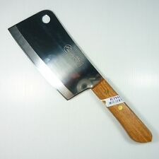 """Thai Cook Knife Chef Knives KIWI Wood Handle Kitchen Blade 6.5"""" Stainless Steel"""