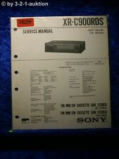 Sony Service Manual XR C900RDS Cassette Car Stereo (#3629)