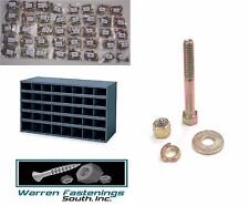 Grade 8 Bolt Nut and Washer Assortment Kit 1500 pc W/40 Hole Storage Bin coarse