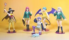 Rare! Rosario + Vampire Gashapon Figure 5 Types Complete Set + Sleeve 2 Sheets