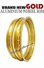HODAKA ACE 90 MODEL #90 ALUMINIUM (GOLD) FRONT + REAR WHEEL RIM
