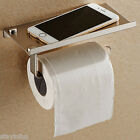 Stainless Steel Bathroom Toilet Paper Phone Holder with Shelf household tool TO