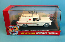SPIROU & FANTASIO VOITURE AMBULANCE SIMCA N°15  1/43  no tintin