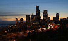 SEATTLE SKYLINE LANDSCAPE POSTER 22x36 HI RES
