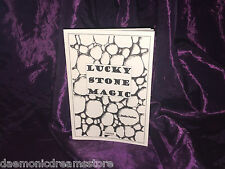 LUCKY STONE MAGIC Finbarr Occult Book Magick White Grimoire Witchcraft Black