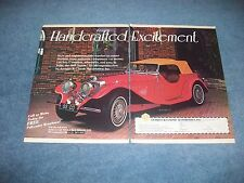 "1937 Jaguar SS 100 1984 Kit Car Vintage Ad ""Handcrafted Excitement"""