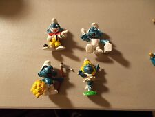 Lot of 4 Vintage  Smurf  Peyo Schleich  Figure with DOCTOR BALLET CLOWN LOT #43