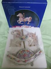New Rocking Horse Musical Animated Carousel Horse Hand Painted Classic Treasures