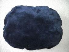 Weiches ovales Feinplüsch-Liegekissen für Tiere 65 x 50 cm dunkelblau NEU