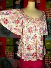 BLOUSE GARDEN COLLECTION COTON ORGANIQUE  MANCHE PAPILLON EMPIRE H&M TS OU 36/40