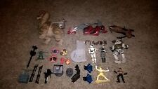 lot of toys from star wars, power rangers, comic books and other media