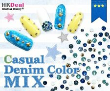 New Mix Swarovski Casual Denim Color Rhinestone Crystal Best for Nail Art