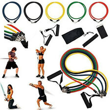 11 PCS Resistance Band Set Yoga Pilates Abs Exercise Fitness Tube Workout Bands