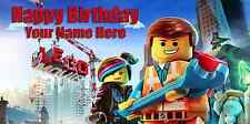 Birthday banner Personalized 4ft x 2 ft  The Lego Movie