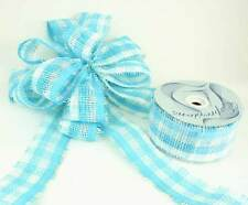 "Blue / White Paper Mesh Ribbon 2.5"" X 20 Yards (Pack of 4 Rolls)"