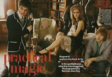 Daniel Radcliffe, Emma Watson 9pg + cover TEEN VOGUE magazine feature, clippings