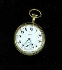 ELGIN  NATIONAL  WATCH CO.  B.W. RAYMOND  POCKET WATCH    SIZE 16  19 JEWELS